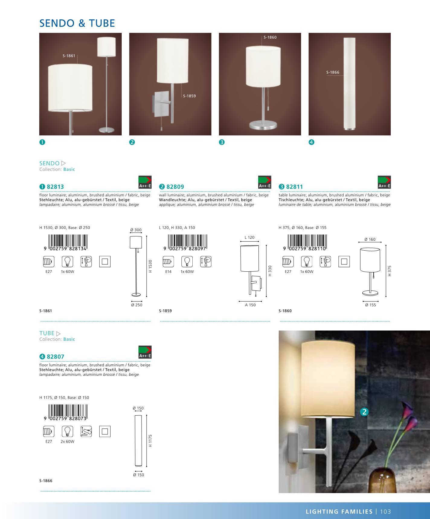 lampi ka na st nu sendo eglo 82809. Black Bedroom Furniture Sets. Home Design Ideas