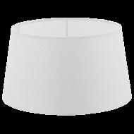 Textilní stínítko bílé k pokojové lampě 1+1 VINTAGE 49657