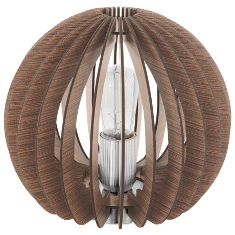 Stolní lampička s dřevěnou konstrukcí COSSANO 94956