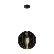Závěsný lustr s dřevěným stínítkem FABESSA 32823