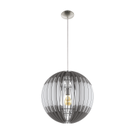 Závěsný lustr s dřevěným stínítkem OLMERO 96974