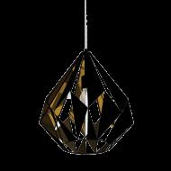 Závěsné svítidlo, černá/měděná CARLTON 1 49878