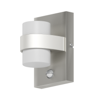Venkovní nástěnné LED světlo s pohybovým senzorem, stříbrné ATOLLARI 96277