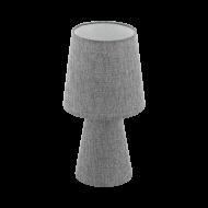 Textilní stolní lampa, šedá CARPARA 97122