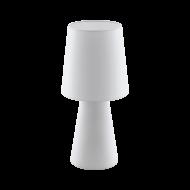 Vyšší stolní lampa z textilie, bílá CARPARA 97131