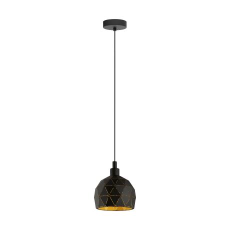 Závěsné svítidlo ROCCAFORTE 33345, barva: černá/zlatá