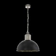 Svítidlo na řetězu COLDRIDGE 49106, barevné provedení: perlově šedá, stínová šedá