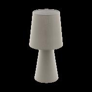 Vyšší stolní lampa z textilie, hnědo-šedá CARPARA 97134