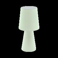 Vyšší stolní lampa z textilie, pastelově zelená CARPARA 97431