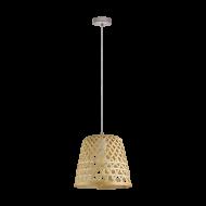 Závěsné svítidlo KIRKCOLM 43113 v přirozeném odstínu dřeva