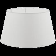 Textilní stínítko bílé k pokojové lampě 1+1 VINTAGE 49654