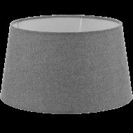 Textilní stínítko šedé k pokojové lampě 1+1 VINTAGE 49658