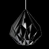 Závěsné svítidlo, černá/stříbrná CARLTON 1 49879
