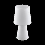 Textilní stolní lampa, bílá CARPARA 97121