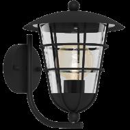Nástěnná venkovní lucerna / lampa černá PULFERO 94834