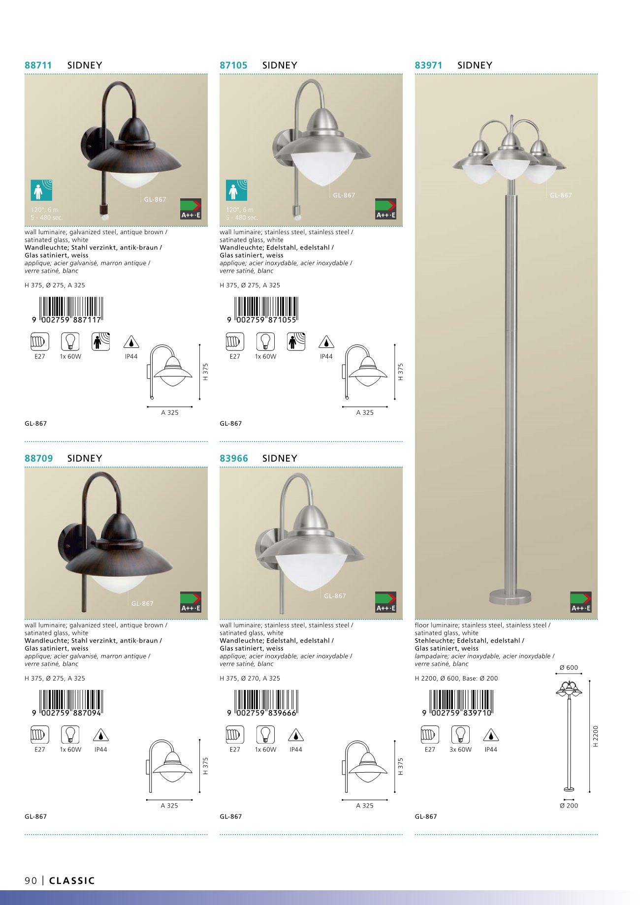 venkovn lampa stojac sidney eglo 83971. Black Bedroom Furniture Sets. Home Design Ideas