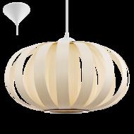 Závěsný lustr s dřevěným stínítkem/přírodní odstín ARENELLA 32437