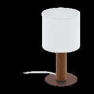 Stolní lampička s bílým textilním stínítkem CONCESSA 3 97681