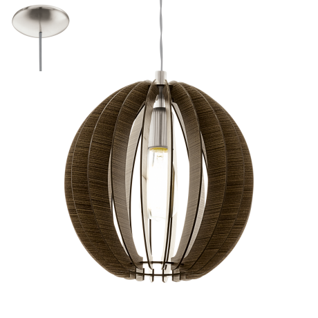 Závěsné svítidlo s dřevěnou konstrukcí COSSANO 94635