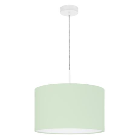Svítidlo na lanku s textilním stínítkem, pastelově zelené PASTERI-P 97377