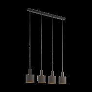 Závěsné osvětlení se čtyřmi kapučínovo-zlatými textilními stínítky CONCESSA 1 97685