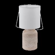 Stolní lampa s keramickou nohou a bílým textilním stínítkem BELLARIVA 97773