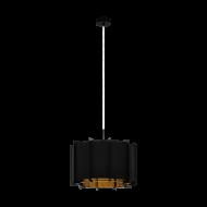 Lustr/svítidlo na lanku PINETA 98342, černo-zlaté