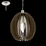 Závěsné svítidlo s dřevěnou konstrukcí COSSANO 94639