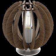 Stolní lampa s dřevěnou konstrukcí COSSANO 95793