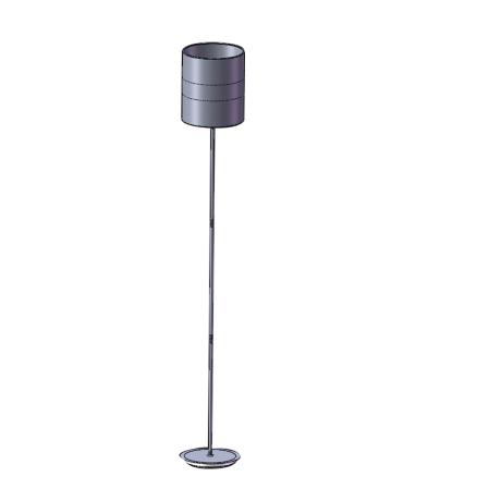 Moderní stojací lampa s textilním stínítkem ABTON 96757