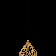 Závěsné svítidlo, oranžově zlaté CARLTON 49934