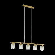 Závěsné osvětlení s křišťálovými stínitky PYTON GOLD 97723
