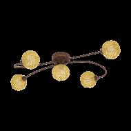 Přisazený LED lustr, rezavá/zlatá CARIS 1 97727