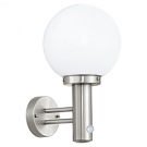 Venkovní lampa ve tvaru koule s pohybovým čidlem NISIA