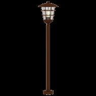 Venkovní lucerna hnědá na podstavci PULFERO 1 94857