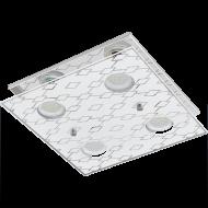 Stropní přisazené osvětlení čtverec DOYET 94576