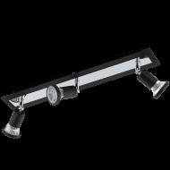 Stropní bodovka černá otočný spot SARRIA 94965