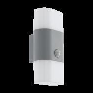 Venkovní nástěnné LED světlo s pohybovým senzorem - stříbrné FAVRIA 1 97313