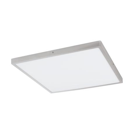 Stropní LED svítidlo ve tvaru čtverce, stříbrná/bílá FUEVA 1 97274