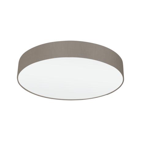 Stropní svítidlo textilním stínítkem o průměru 57 cm, hnědošedá/bílá  PASTERI 97612
