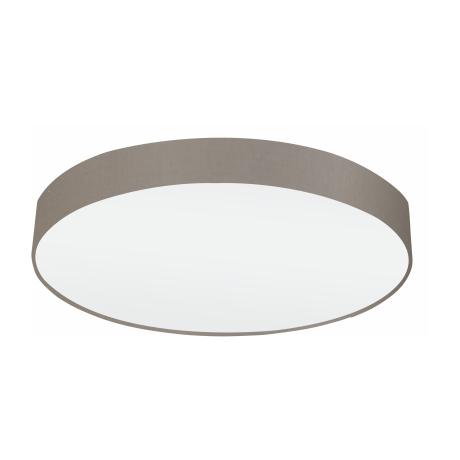 Osvětlení na strop s textilním stínítkem a průměrem 76 cm, hnědošedá/bílá PASTERI 97616
