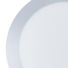 Stropní přisazené světlo se stříbrným okrajem MARS1