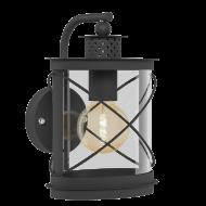 Černá nástěnná lampa / lucerna HILBURN 94843