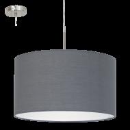 Závěsné textilní osvětlení šedé PASTERI 31573