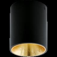 LED stropní osvětlení černé a zlatavé POLASSO 94502