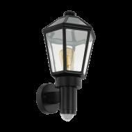 Venkovní nástěnná lucerna - černá MONSELICE 97257