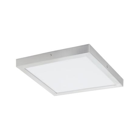 Stropní LED světlo-čtverec, stříbrná/bílá, chromatičnost 4000K FUEVA 1 97269