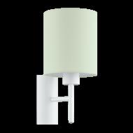 Textilní nástěnná lampa, pastelově zelená PASTERI-P 97381