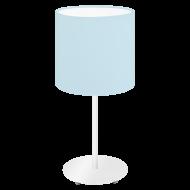 Stolní lampička s textilním stínítkem, pastelově modrá PASTERI-P 97389