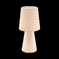 Vyšší stolní lampa, pastelově meruňková CARPARA 97567